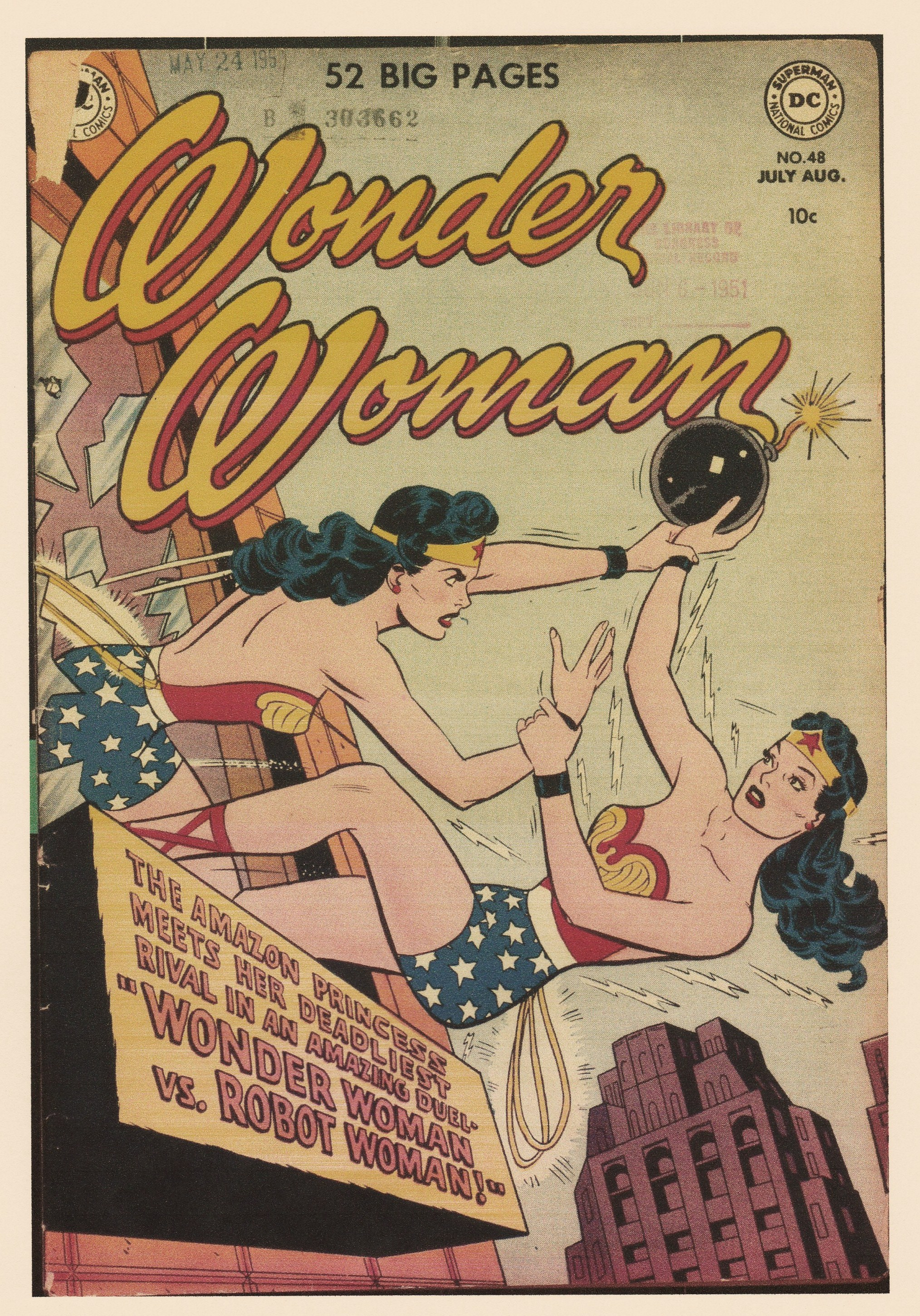 10 Wonder Woman, n°48 (1951) couverture