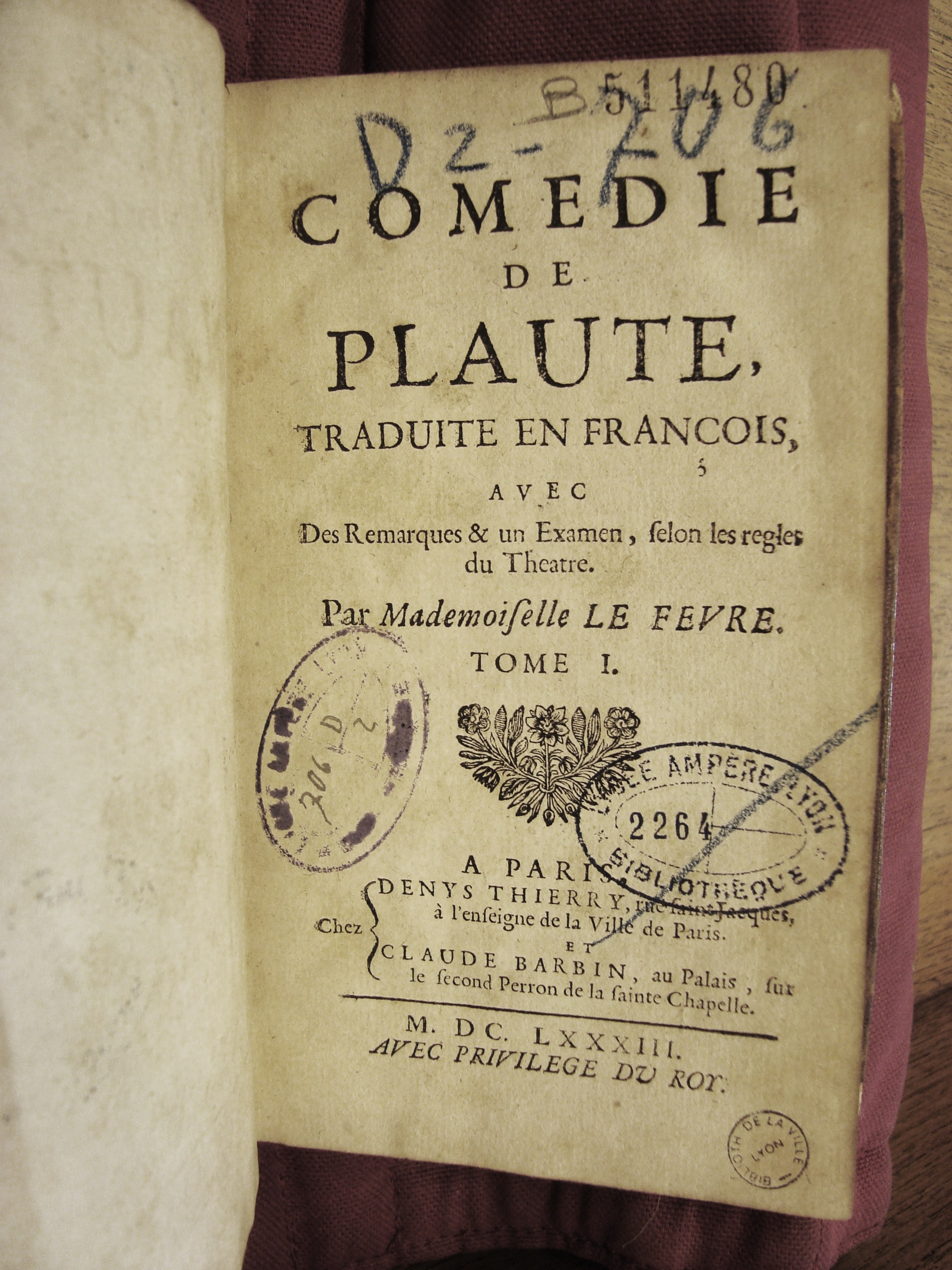 9 Plaute, Paris 1683